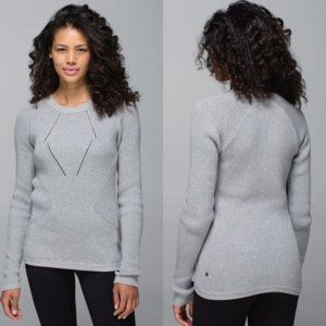 LULULEMON The Sweater The Better Grey Pullover Top